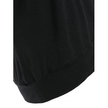 Strappy Backless Blouson Camis - BLACK S