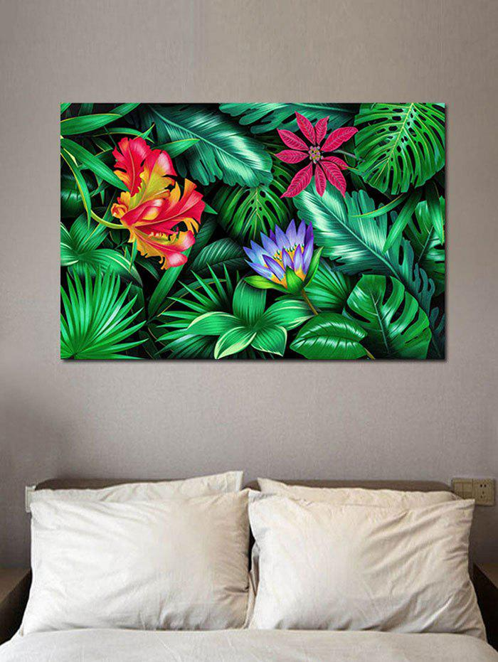 Tropical Jungle Print Wall Art Sticker - multicolor W20 INCH * L27.5 INCH