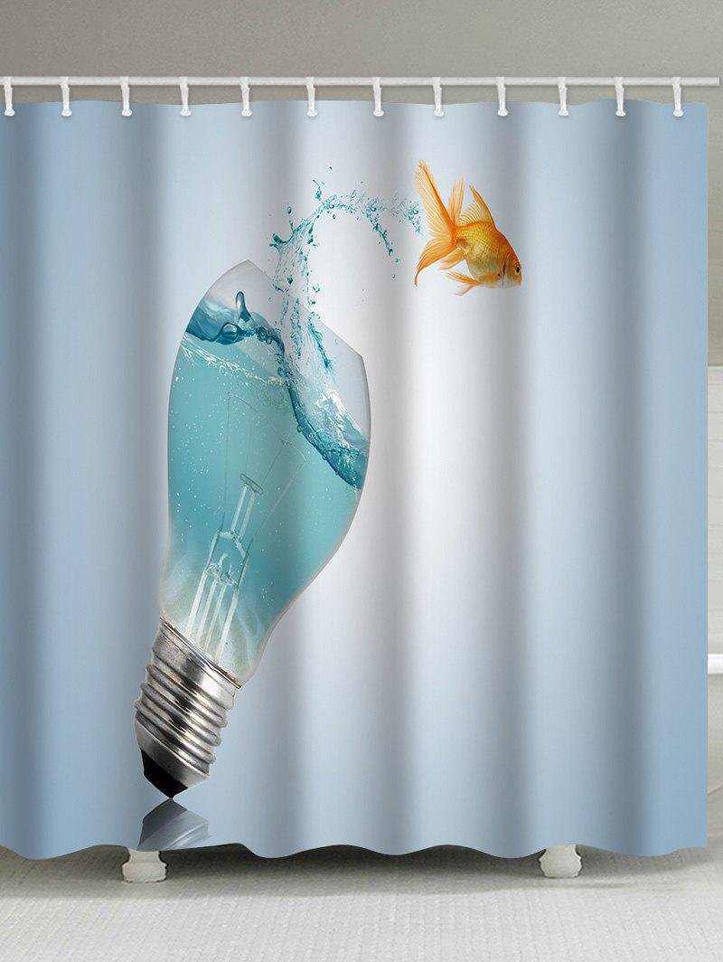 Water Light Bulb Goldfish Waterproof Shower Curtain автомагнитола supra sfd 40u usb sd