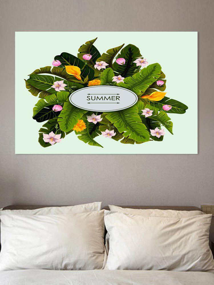 Tropical Leaf and Flower Print Wall Art Sticker все цены