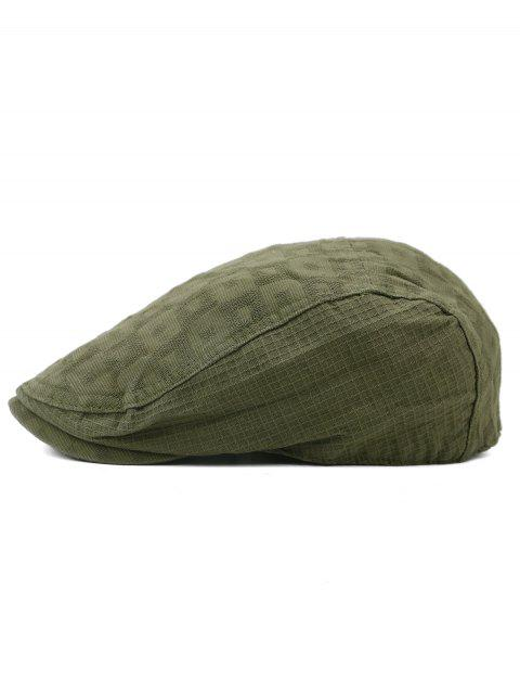 Outdoor Checked Pattern Cabbie Hat - ARMY GREEN