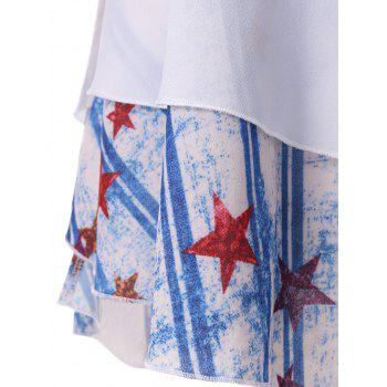 Stars and Stripes Print Cami Top - multicolor 2XL