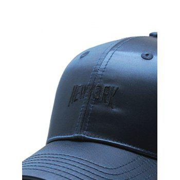 NEW YORK Embroidered Adjustable Sport Hat - DARK SLATE BLUE