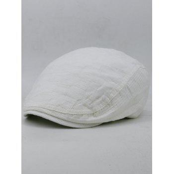 Outdoor Checked Pattern Cabbie Hat - WHITE