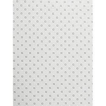 Uhommi Retro Tile Pattern Printed Skidproof Area Rug - WARM WHITE W16 INCH * L24 INCH