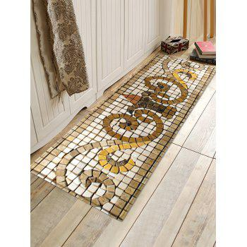 Uhommi Retro Tile Pattern Printed Skidproof Area Rug - WARM WHITE W16 INCH * L47 INCH