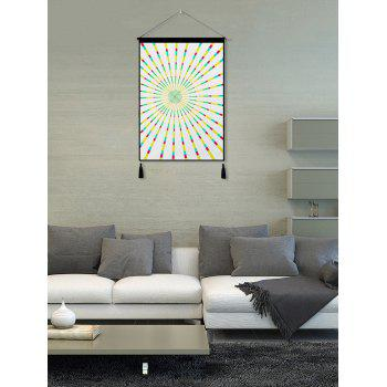 Abstract Geometric Print Tassel Wall Art Hanging Painting - WARM WHITE 1PC:18*26 INCH(NO FRAME)