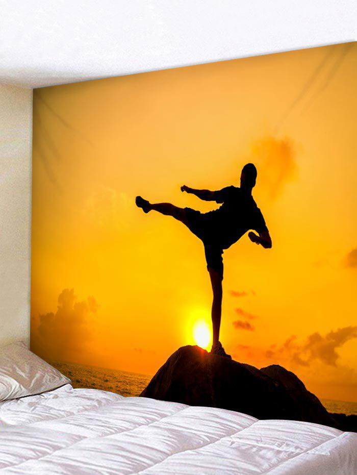 2018 Kungfu Man Printed Wall Art Hanging Tapestry RUBBER DUCKY ...