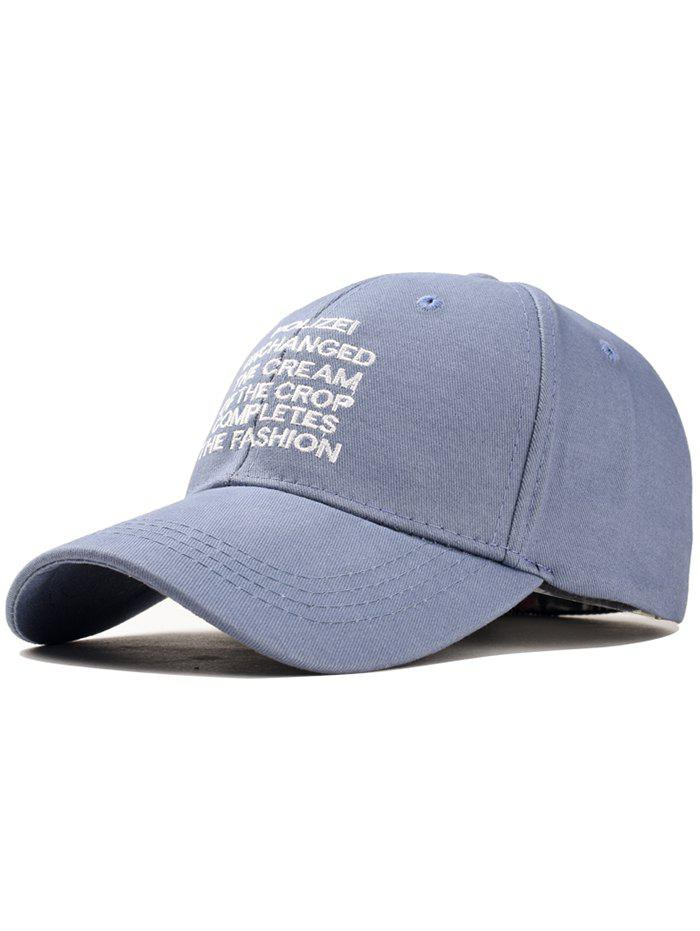 Outdoor Letter Printed Snapback Hat - BLUE GRAY