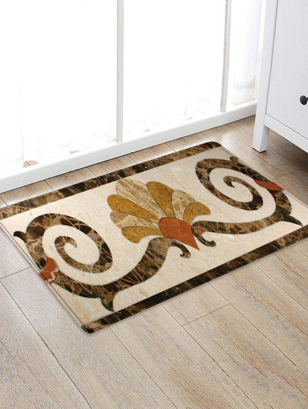 Uhommi Baroque Pattern Area Rugs Floor Mat - multicolor W20 INCH * L31.5 INCH