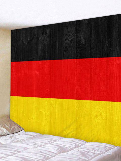 German Flag Pattern Wall Hanging Tapestry - multicolor W91 INCH * L71 INCH
