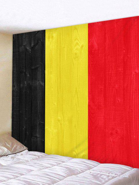 Flag of Belgium Print Wall Decor Tapestry - multicolor W91 INCH * L71 INCH