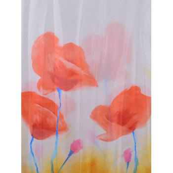 Elegant Flourishing Rose Printed Long Scarf - PUMPKIN ORANGE