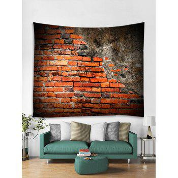 Old Broken Brick Wall Print Wall Tapestry - multicolor W79 INCH * L59 INCH