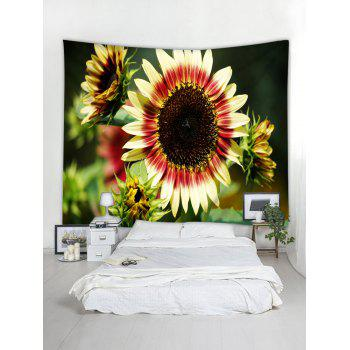 3D Sunflowers Printed Wall Hangings Tapestry - multicolor W59 INCH * L51 INCH