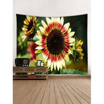 3D Sunflowers Printed Wall Hangings Tapestry - multicolor W79 INCH * L71 INCH