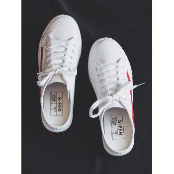 Breathable Slip On Backless Skate Shoes - RED 35