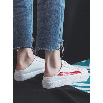 Breathable Slip On Backless Skate Shoes - RED 37