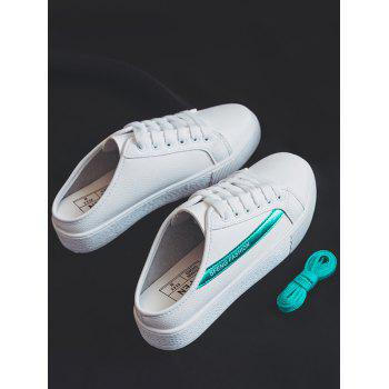 Breathable Slip On Backless Skate Shoes - GREEN 40