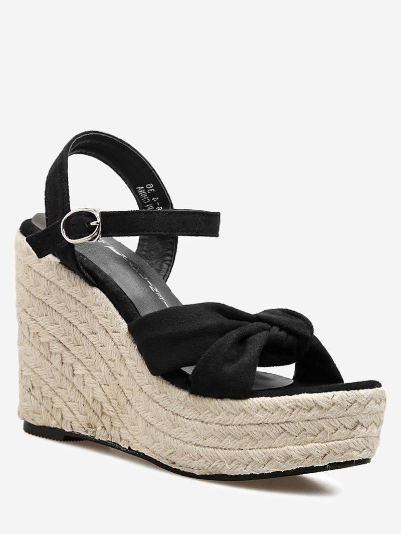 Hemp Rope Wedge Heel Vacation Sandals
