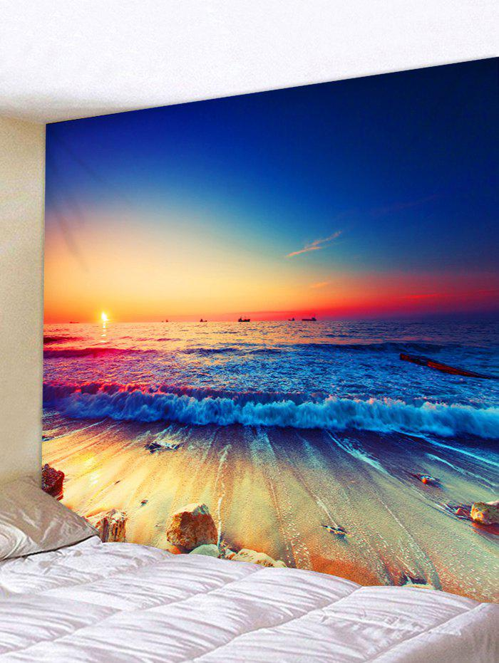 Sunset Ocean Wave Print Tapestry Wall Art wall hanging art decor ocean wave sunset print tapestry