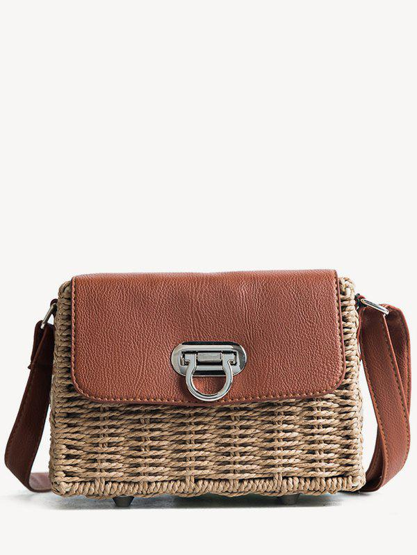 Beach Style Straw Crossbdoy Bag - BROWN