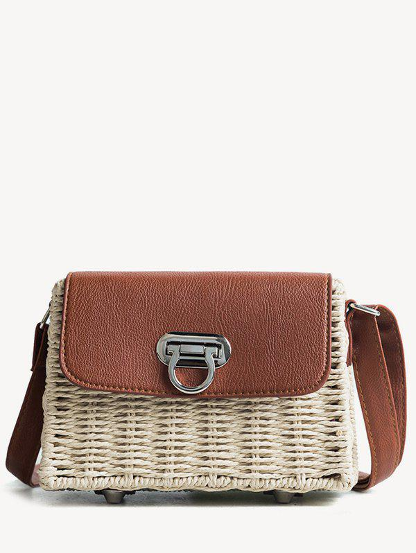 Beach Style Straw Crossbdoy Bag - BEIGE
