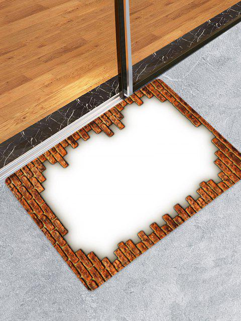 Bricks Print Absorbent Doormat Runner Rugs - multicolor W20 INCH * L31.5 INCH