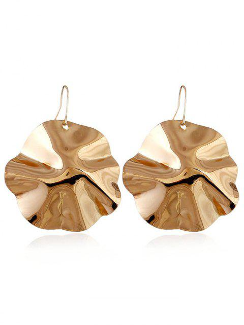 Leaf Shape Alloy Drop Earrings - GOLD