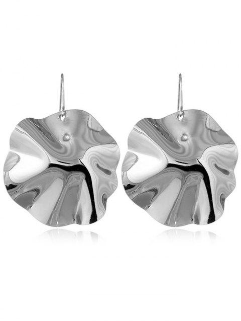 Leaf Shape Alloy Drop Earrings - SILVER
