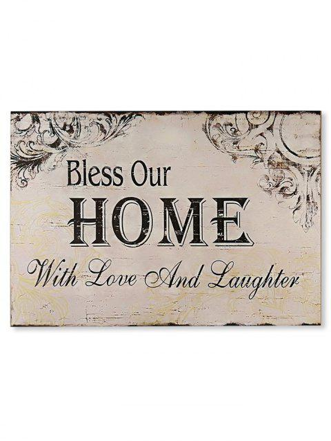 acfc383dda8 2019 Wood Engraved Bless Home Sign Home Decoration In CORNSILK ...