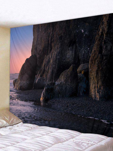Dark Sunset Print Tapestry Wall Hanging Decor - TAUPE W79 INCH * L71 INCH
