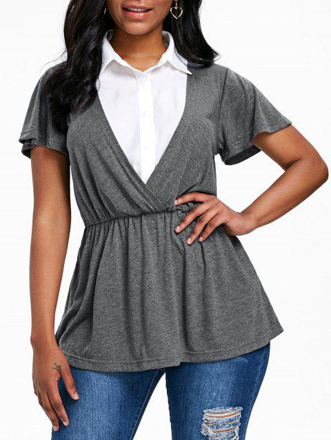 Faux Twinset Smock T-shirt