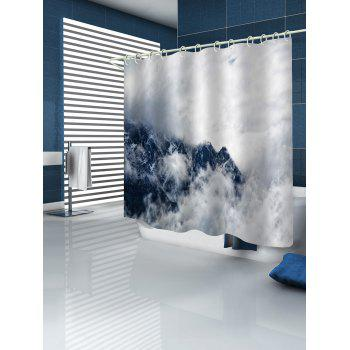 Mountain in the Cloud Print Shower Curtain - multicolor W71 INCH * L71 INCH