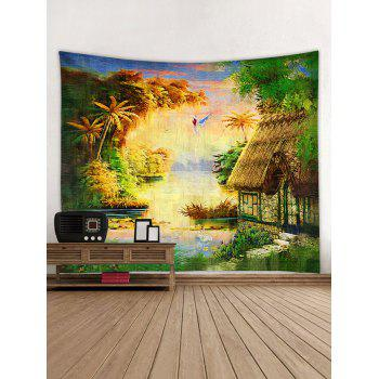 Forest Thatching Print Tapestry Wall Art - multicolor W79 INCH * L59 INCH