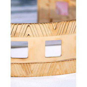 Striped Geomteries Neck Choker Cuff Collar Necklace for Club Party - GOLD
