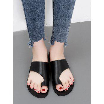 Solid Casual Holiday Slip On Slides - BLACK 39