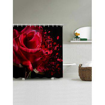 Rose Wither Print Waterproof Shower Curtain - multicolor W71 INCH * L71 INCH