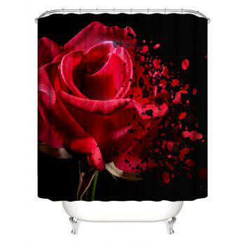 Rose Wither Print Waterproof Shower Curtain - multicolor W59 INCH * L71 INCH