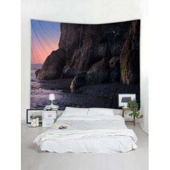 Dark Sunset Print Tapestry Wall Hanging Decor - TAUPE W59 INCH * L59 INCH