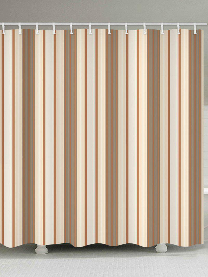 Vertical Striped Fabric Shower Curtain - multicolor W71 INCH * L79 INCH