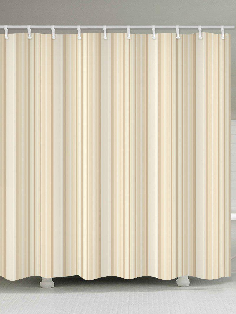 Striped Water Resistant Shower Curtain - BLANCHED ALMOND W59 INCH * L71 INCH