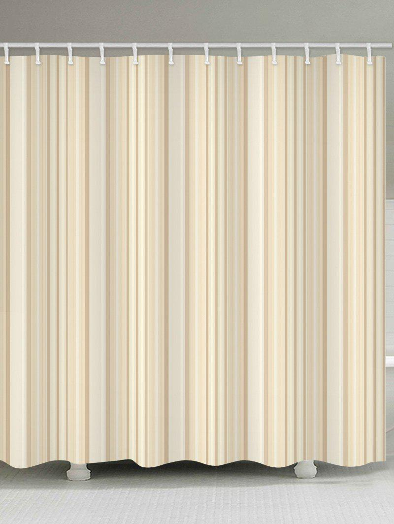 Striped Water Resistant Shower Curtain - BLANCHED ALMOND W71 INCH * L71 INCH