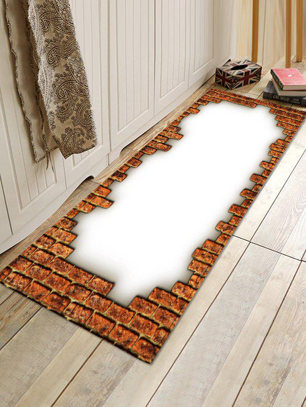 Bricks Print Absorbent Doormat Runner Rugs - multicolor W16 INCH * L47 INCH