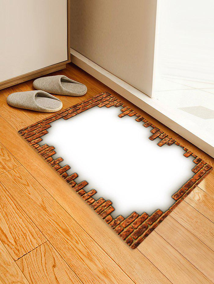 Bricks Print Absorbent Doormat Runner Rugs - multicolor W16 INCH * L24 INCH