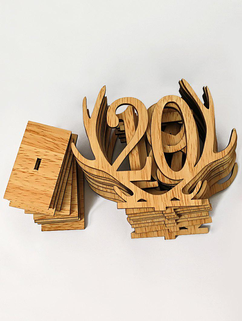 Number 1 to 20 Sign Wood Antler Wedding Decoration Set - BRIGHT YELLOW