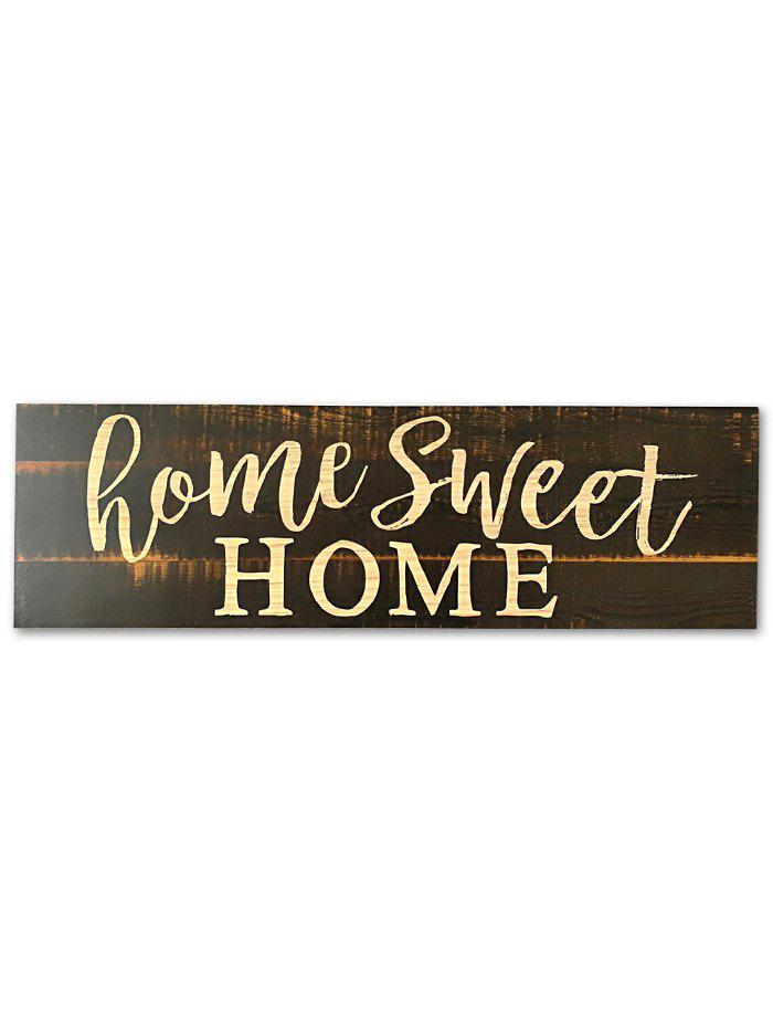 Wooden Engraved Sweet Home Sign Home Decor - TAUPE