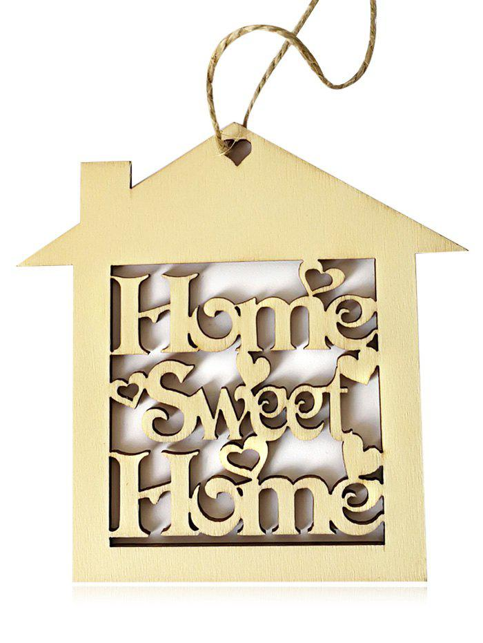 10PCS Wooden Sweet Home Sign Hanging Decors - CORNSILK
