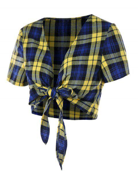 Tartan Bowknot Belly Top - COLORMIX XL