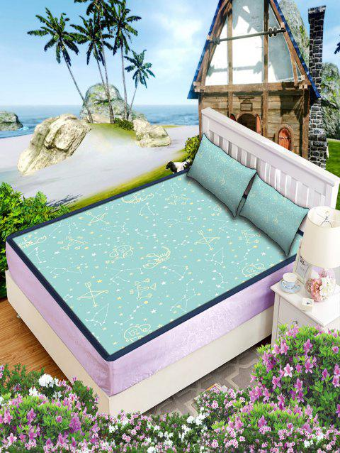 Zodiac Signs Print Cooling Mattress Topper Pillowcase Set - CELESTE W79 INCH * L71 INCH